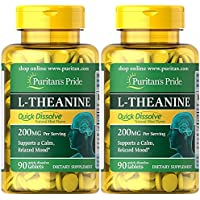 L-Theanine 200 mg (TEANINA) 90 cáps. PURITANS PRIDE (Pack 2u