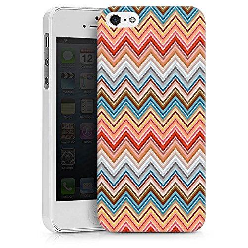 Apple iPhone X Silikon Hülle Case Schutzhülle Zickzack Retro Muster Hard Case weiß