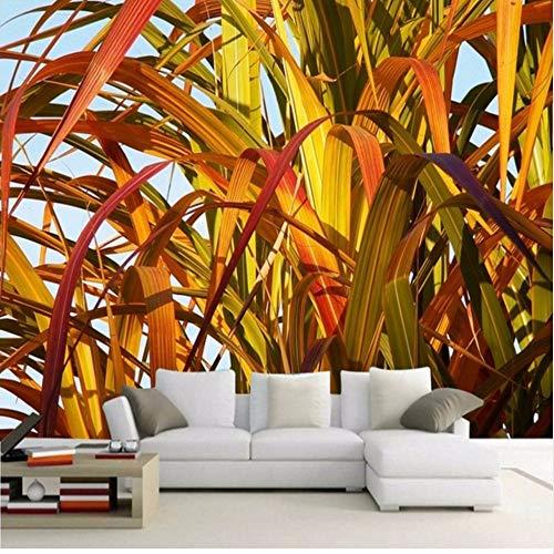 Lsfhb Individuelle Fototapeten Herbst Bambus Blätter Natur Wandbild Wohnzimmer Tv Hintergrund Restaurant Schlafzimmer Korridor Tapete-250X175Cm