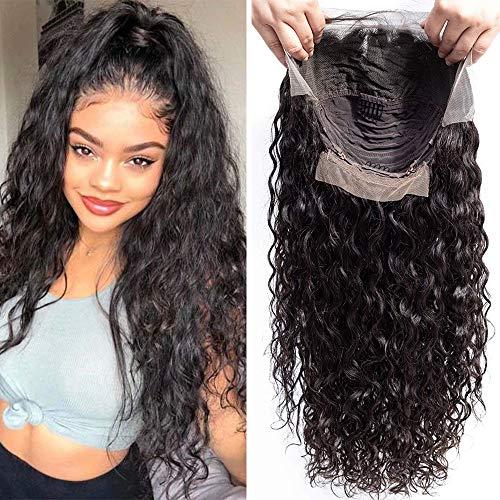 S-noilite 7A Pelucas de cabello humano brasileño Remy de 130% de densidad, ondulado y rizado con cabello...