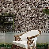 ALLDOLWEGE Kunst an der Wand Stein Tapete Retro Kultur Steinfliesen Textur wallpaper Bar, Coffee Shop, Restaurant, ein dreidimensionales Wall Sticker