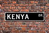 Metall Stree Kenia Schild Geschenk Souvenir Schild Andenken Wall Decor Aluminium Poster Yard Zaun Schild