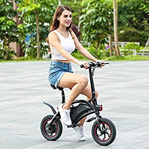 Electric Bike, clisto E-Bike Folding with 20 MPH Speed, 20KM Range, Quick Charge Battery and APP Speed Setting