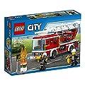 LEGO City 60107 - Feuerwehrfahrzeug mit fahrbarer Leiter, Cooles Spielzeug für Kinder von Lego City
