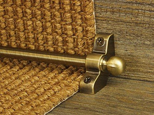 Extreme® Jubilee Stair Rods ~ envejecido–6x fácil varillas para–Buena calidad hueco alfombra de pasillo escalera barras asequible barato y nuevo