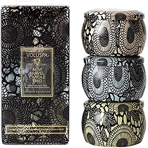 Voluspa Japonica oz Set 4 Mini-candela Creme de Peche French