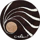 Grund COLANI Exklusiver Designer Badteppich 100% Polyacryl, ultra soft, rutschfest, ÖKO-TEX-zertifiziert, 5 Jahre Garantie, Colani 18, Badematte 80 cm rund, braun