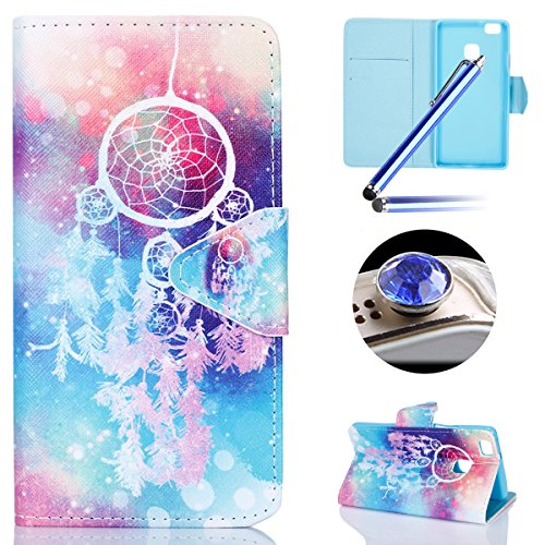 huawei-p9-lite-casehuawei-p9-lite-flip-caseetsue-pretty-colorful-dreamcatcher-pu-leather-magnetic-cl