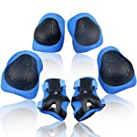 Wemfg Wemfg Kids Protective Gear Set Knee Pads for Kids 2-8 Years Toddler Knee and Elbow Pads with Wrist Guards 3 in 1...