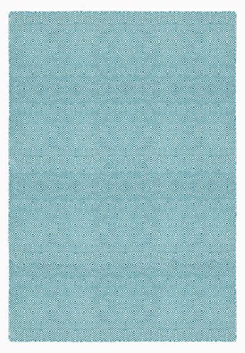Green Decore Indoor-/Outdoor wendbar Polyester recyceltem Faser Teppich, Solitaire türkis 60x 90 -