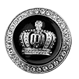 Merssavo 3D Diamond Crown Auto Styling Auto Aufkleber Metall Abzeichen Aufkleber und Abziehbilder - Silber
