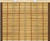 Tenda da sole Tapparella in midollino 1,2x2,5H mt con corda e bordo in cotone