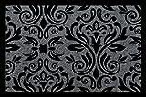 FUSSMATTE Schmutzmatte BARONESS Muster Türvorleger Eingang Flur Viele Farben Dunkelgrau