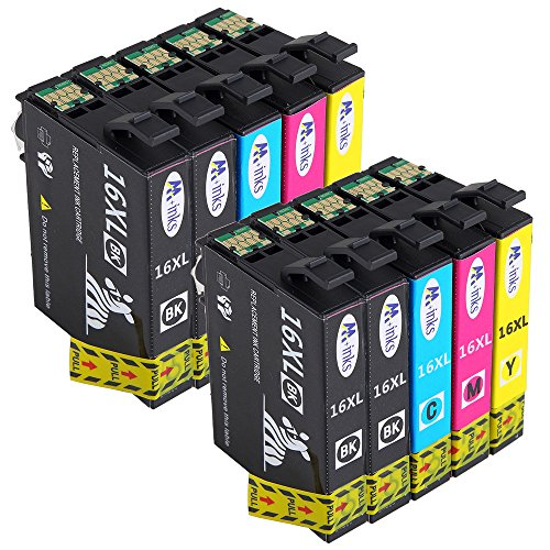 AA+inks Kompatibel tintenpatronen Epson 16XL Druckerpatronen für Epson WorkForce WF-2010 WF-2500...