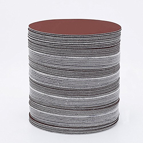 ck/lot rot rund Schleifpapier 5 Inch 125 mm Disk Sand Blatt Mix Körnung 320/400/600/800/1000/1500 Haken & Loop Schleifscheibe für Sander Körnungen ()