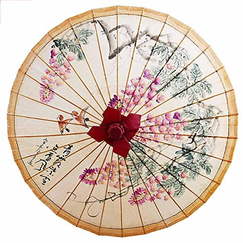 khskx-pure-hand-painted-plum-blossoms-wisteria-flowers-tung-oil-paper-umbrella-chinese-style-retro-b