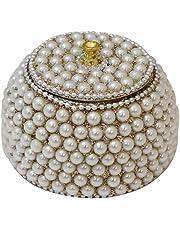 Adorn World Beautiful Handcrafted Gifting Sindoor Moti Dibbi,Kumkum Box
