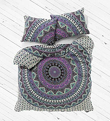 Decorative Elephant Mandala Duvet Cover Indian Handmade Doona Cover Throw Reversible Bedding Quilt Cover Set With Pillow