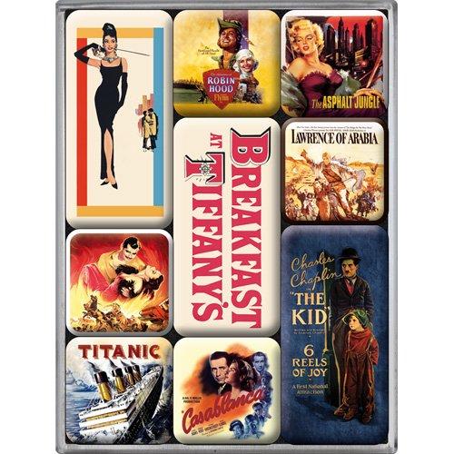 Nostalgic-Art 83007 Breakfast at Tiffany's Movie-Art Retro, Magnet-Set (9-teilig)