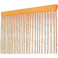 Espiral patrón de la puerta de la cortina de la cuerda cortina divisor de la sala de estar, naranja