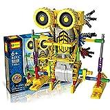 HAHAIone robótica Juegos de construcción juguetes de la ciencia para los niños, de la Asamblea de los bloques huecos Ladrillos Robot Kit de bricolaje juguete, motor accionado por batería, rompecabezas 3D Diseño figura del extranjero del robot de Primates