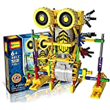HAHAIone robótica Juegos de construcción juguetes de la ciencia para los niños, de la Asamblea de los bloques huecos Ladrillos Robot Kit de bricolaje juguete, motor accionado por batería, rompecabezas 3D Diseño figura del extranjero del robot de Primates - HAHAone - amazon.es