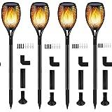 Luces Antorchas Solares, Luces Solar Jardín Exterior Antorcha con Llamas 96 LED Impermeable IP65, Al Aire Libre Paisaje Decor