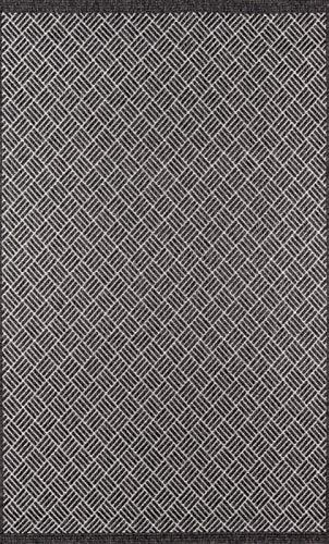 Momeni COMO0COM-4CHR2060 Teppich Como Collection, ca. 60 x 183 cm, Anthrazit