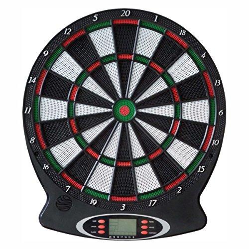 *Set Dart-Scheibe NEW SPORTS Electronic-Dartboard Ø 37,5 cm inkl. 6 Dart-Pfeile*