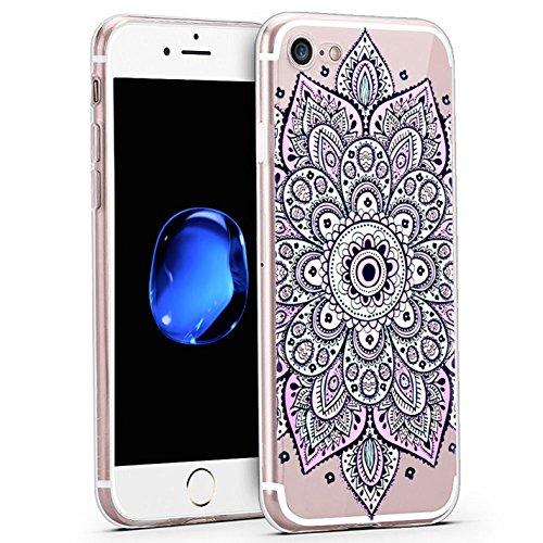 Coque iPhone 7 , ivencase iPhone 7 Coque Housse Etui TPU Silicone Clair Transparente Ultra Mince Anti-Scratch Back Case Cover pour iPhone 7 ak25