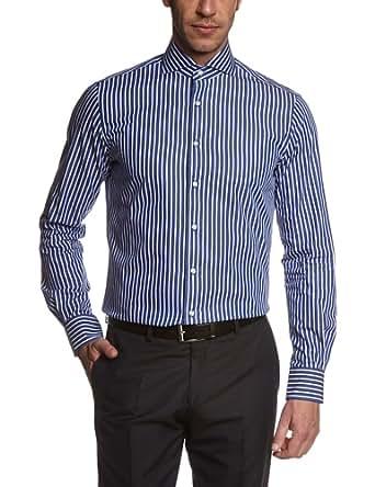 Tommy Hilfiger Tailored Herren Regular Fit Businesshemd Judd SHTSTP14310, Gr. Kragenweite: 43 cm, Blau (425)