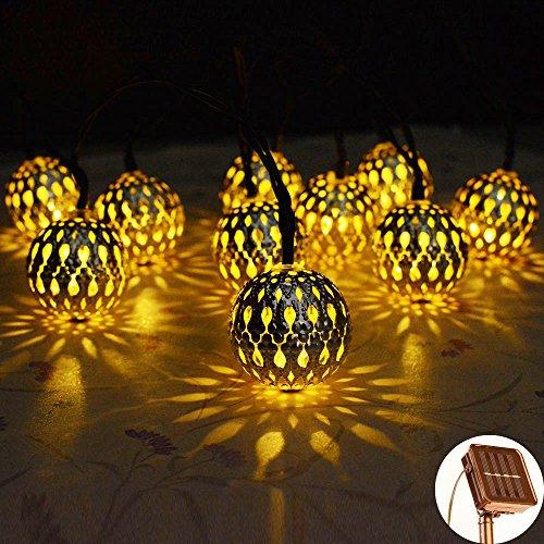 Solar Lichterkette,Kondisco 10er LED 3 Meter Solar Lichterkette Wasserfest Garten Außen Weihnachten Dekoration für Garten,Terrasse,Geburtstag,Haus,Party,Weihnachtsbaum,Weihnachten Party.
