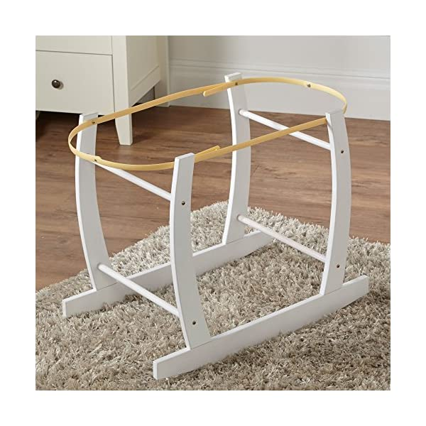 White Deluxe Moses Basket Rocking Stand For-your-Little-One Fast Delivery Top Quality 1
