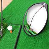Festnight Wide Angle Golf Convex Mirror for Swing and Putting Golf Training Aid