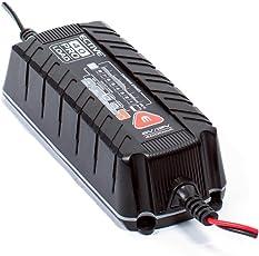 ECTIVE vollautomatisches 6V und 12V 4A Ladegerät 8-Stufen in Zwei Varianten: 4 und 8 Amp für Auto und Motorrad Batterie