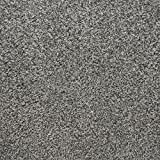 "Flecked Twist Pile Carpet Roll, Hardwearing Felt Backing (3m x 4m (9 ft 10"" x 13ft 1""), Deep Grey)"