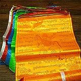 Dollbling Tibetanische buddhistische Gebets 10Flaggen in hochwertige 6,8Meter 20Stück mit Wind-Pferde-Rein Ronda, Flagge