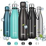 Amazon Brand - Umi Botella Agua Acero Inoxidable, Termo 750ml, Sin BPA, Islamiento de Vacío de Doble Pared, Botellas Frío/Cal