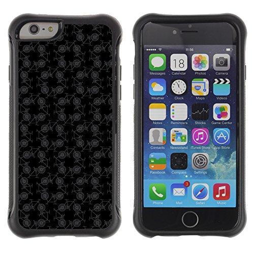 Graphic4You BLACK STRIPES Muster Shockproof Anti-Rutsch Weichen Hülle Case Tasche Schutzhülle für Apple iPhone 6 / 6S Design #15
