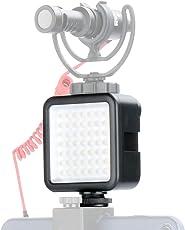 Ulanzi Ultra Bright LED Video Light -Mini LED 49 Dimmable High Power Panel Video Light, LED Light for Canon, Nikon, Pentax, Panasonic,SONY, Samsung and Olympus Digital DSLR Cameras