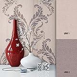 NEWROOM Barocktapete Tapete Beige Ornament Barock Vliestapete Vlies moderne Design Optik Barocktapete Wohnzimmmer Glamour inkl. Tapezier Ratgeber