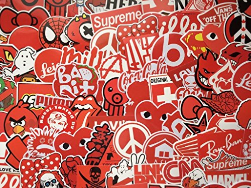 ber, rot Stickers, Dekoration, Vinyl-Aufkleber einfarbig rot, stickerbomb, Skate, Doodle, Mix Lot (20) ()