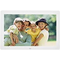 12 Zoll Digitaler Bilderrahmen mit Fernbedienung, 1280x800 HD LED Anzeige Elektronischer Fotorahmen mit Wecker Kalender…