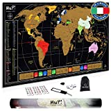 TooPopz Mappa del Mondo da Grattare Mup! - Design Italiano, Grande Poster Planisfero da Parete, Idee Regalo Originali per Viaggiatori, Cartina Geografica Mondo, Travel Map, Scratch Map World 84x44cm