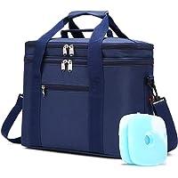 JANSBEN 18L Kühltasche mit 2 Kühlakkus Thermotasch Picknicktasche Isoliertasche Lunchtasche Kühlbox Mittagessen für…
