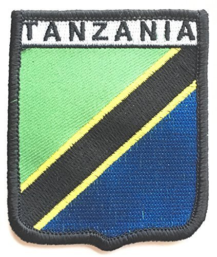 Tansania bestickt Nähen auf Patch - Tansania Patch