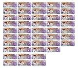 Adress-Etiketten - Adress-Aufkleber Sticker Namensaufkleber mit Ihrem Wunschtext 57x 23mm, für 1 bis 5 Zeilen Text - 45 Stück - 45 Hintergründe zur Auswahl (23 Mops Pug)