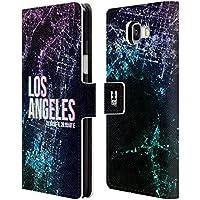 Head Case Designs Los Angeles Lumières De La Ville Étui Coque De Livre En Cuir Pour Samsung Galaxy A5 (2016)