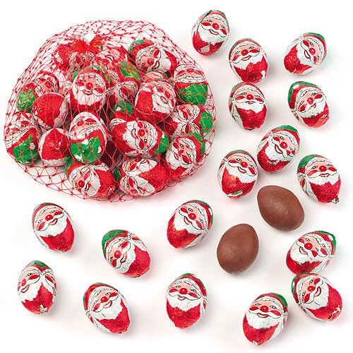Santa Mini Chocolate Eggs Perfect Christmas Stocking and Winter Party Bag Filler for Kids (Pack of 16)