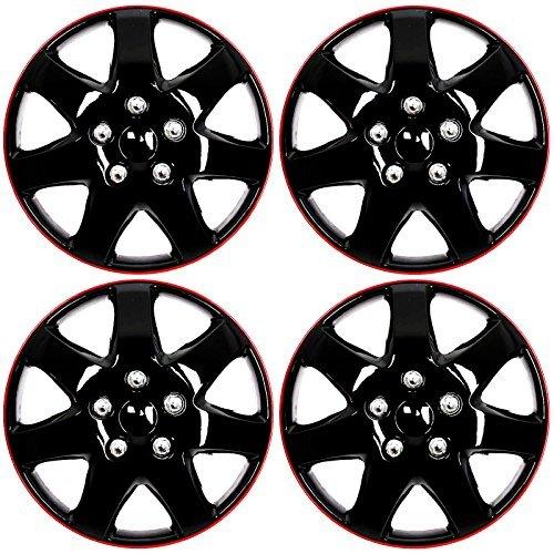 4-pc-set-16-ice-black-red-hub-cap-full-lug-skin-rim-cover-for-oem-steel-wheel-by-kt
